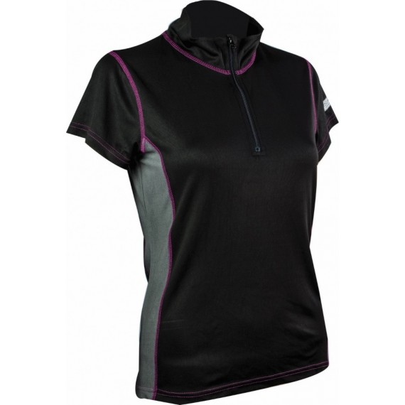 Pro-Tech Zip Neck T-shirt voor dames