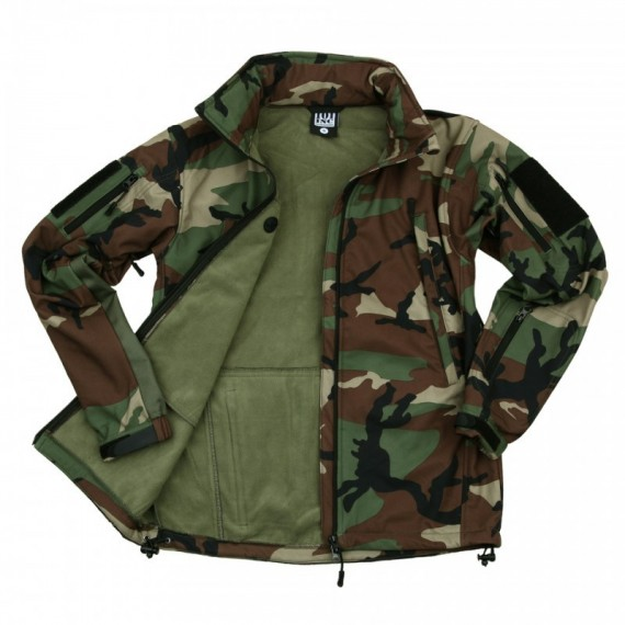 SOFT SHELL JACK TACTICAL WOODLAND