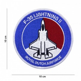 EMBLEEM STOF F-35 LIGHTNING II ROYALE DUTCH AIRFORCE  5058