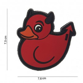 3D PVC DEVIL DUCK ROOD 10053