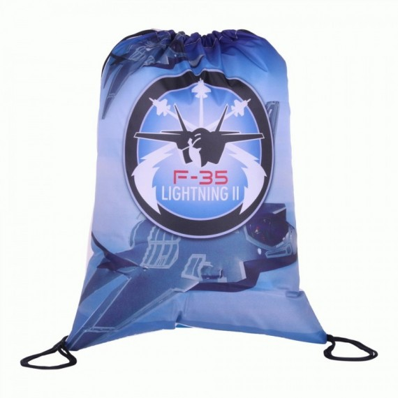 DRAWSTRING BAG F-35 BLAUW