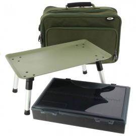 Two Tier Tackle Bag with Built in Bivvy Table and Tackle Box Included
