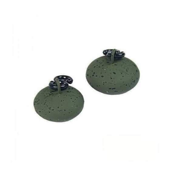 1.5oz NGT Green Saucer Smooth Back Lead