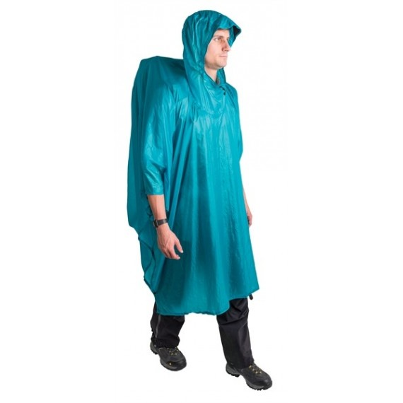 Sea to Summit - Poncho 15D Blauw - Poncho - Blauw - 145g