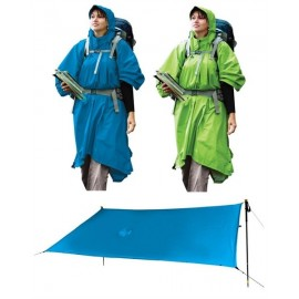 Sea to Summit - Tarp Poncho Blauw - Schaduwdoek - Tarp & Pon