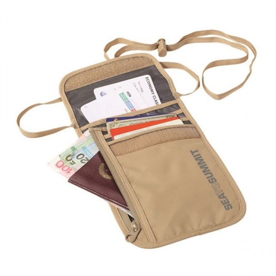 Sea to Summit - Neck Wallet - Reisportemonnee - Sand/Grijs