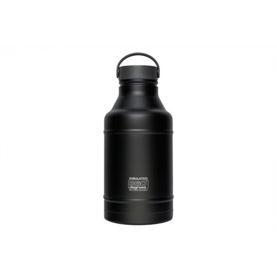 360° degrees - Growler 1800ml - Drinkfles - Zwart - Geïsoleerd