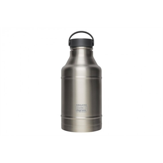 360° degrees - Growler 1800ml Steel - Drinkfles - Chrome Geisoleerd