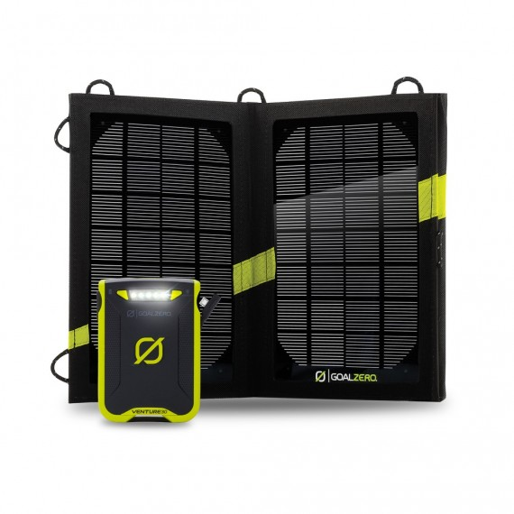 VENTURE 30 POWER BANK met NOMAD 7 SOLAR KIT