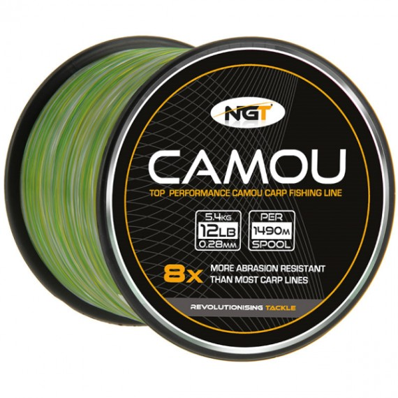 NGT Spool of Camo Line 0,28mm (1490m)