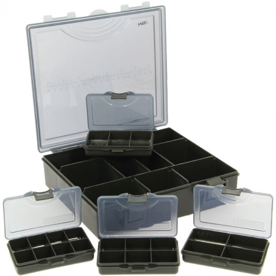 Small Deluxe Storage / Tackle Box with Four Bit Boxes