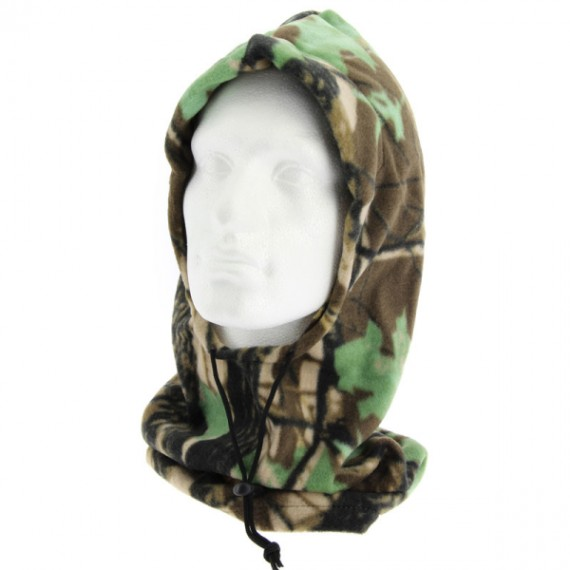 Deluxe Camo Snood with Face Guard Model