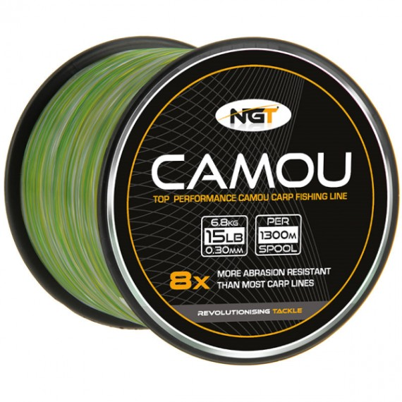 NGT Spool of Camo Line 0,30mm