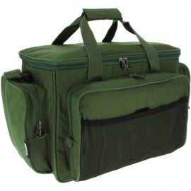 Green Insulated Carryall with Mesh Front Pocket