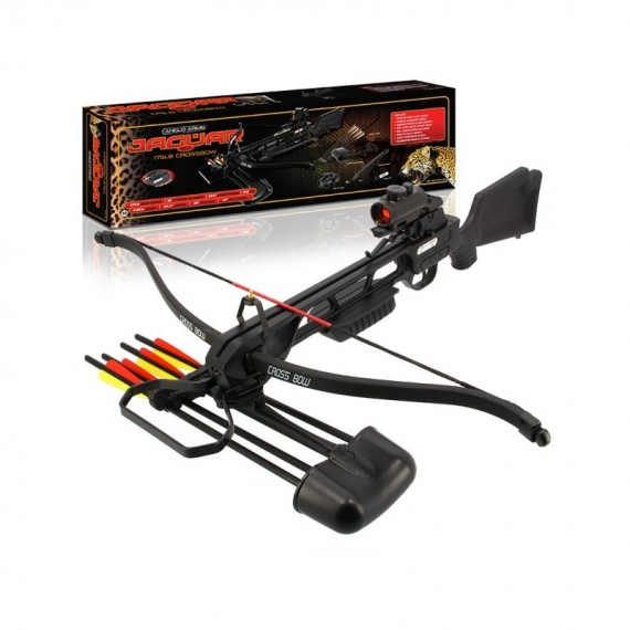 Jaguar Black DLX MK2 - 175lb Crossbow with Red Dot Sight